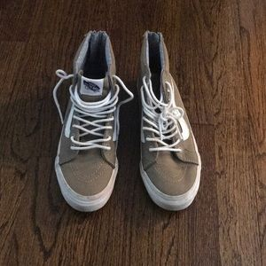 Vans in taupe color